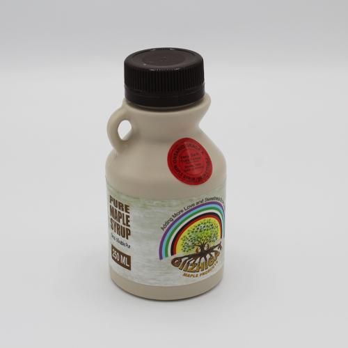 medium sized plastic maple syrup jug
