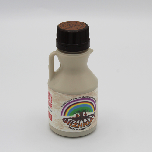 small sized plastic maple syrup jug